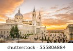 the almudena cathedral is the... | Shutterstock . vector #555806884