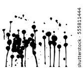 set of black paint  ink  grunge ... | Shutterstock .eps vector #555811444