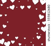 cutout paper hearts. square... | Shutterstock .eps vector #555812680