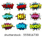 comic book speech bubbles  cool ... | Shutterstock .eps vector #555816730
