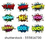 comic book speech bubbles  cool ... | Shutterstock .eps vector #555816730