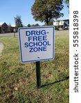 deep focus on drug free school... | Shutterstock . vector #555818398