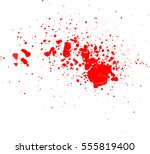 blood drops and splatters on... | Shutterstock .eps vector #555819400