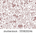 valentine's day vector seamless ... | Shutterstock .eps vector #555820246