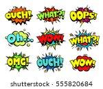 comic book sound effect speech... | Shutterstock .eps vector #555820684