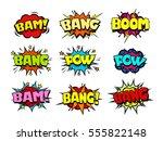 comic book speech bubbles  cool ... | Shutterstock .eps vector #555822148