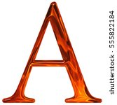uppercase letter a   the... | Shutterstock . vector #555822184