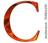 uppercase letter c   the... | Shutterstock . vector #555822190