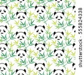 seamless pattern with bamboo...   Shutterstock .eps vector #555824338