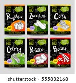 set of colorful labels in... | Shutterstock .eps vector #555832168