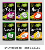 set of colorful labels in... | Shutterstock .eps vector #555832183