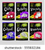 set of colorful labels in... | Shutterstock .eps vector #555832186