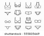 women underwear  set. different ...   Shutterstock .eps vector #555835669