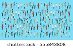 people group different... | Shutterstock .eps vector #555843808