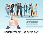 curriculum vitae recruitment... | Shutterstock .eps vector #555845569