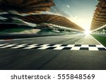 circuit motion blur road | Shutterstock . vector #555848569