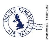 united kingdom post office  air ... | Shutterstock .eps vector #555849259