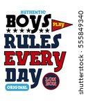 london boys rules everyday t... | Shutterstock .eps vector #555849340