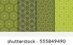 floral ornament. set of...   Shutterstock .eps vector #555849490
