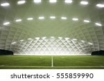 indoor football field | Shutterstock . vector #555859990