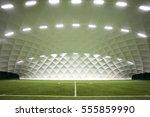 indoor football field | Shutterstock . vector #555859990