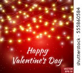 happy valentine's day. red... | Shutterstock .eps vector #555860584