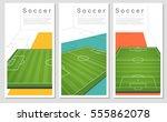 set of football field graphic... | Shutterstock .eps vector #555862078