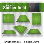 set of football field   vector  ... | Shutterstock .eps vector #555862096