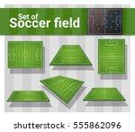 set of football field   vector  ... | Shutterstock .eps vector #555862096