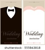set of wedding card flyer pages ... | Shutterstock .eps vector #555863818