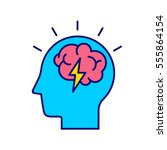 brainstorm concept. business... | Shutterstock .eps vector #555864154