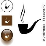 smoking pipe symbol sign and... | Shutterstock .eps vector #555864640