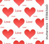 seamless pattern with hearts | Shutterstock .eps vector #555865660