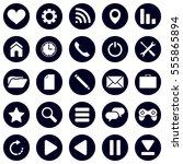 set of 25 modern flat icons.... | Shutterstock .eps vector #555865894