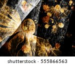 floral style smoke multicolored ... | Shutterstock . vector #555866563