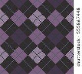 knitted seamless pattern argyle | Shutterstock .eps vector #555867448