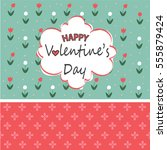 happy valentines day card | Shutterstock .eps vector #555879424