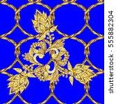 seamless vintage pattern on... | Shutterstock .eps vector #555882304
