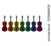 cello string bow musical... | Shutterstock . vector #555886828