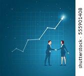 business concept vector... | Shutterstock .eps vector #555901408