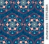 handdrawn ethnic ornamental... | Shutterstock .eps vector #555913864