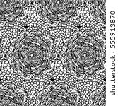 handdrawn ethnic ornamental... | Shutterstock .eps vector #555913870