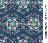 handdrawn ethnic ornamental... | Shutterstock .eps vector #555913894