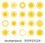 sun icons isolated on white... | Shutterstock .eps vector #555915124
