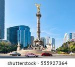 the angel of independence at... | Shutterstock . vector #555927364