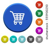 shopping cart round color...   Shutterstock .eps vector #555930250