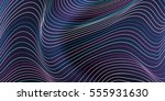 Abstract Wavy Lines Background...