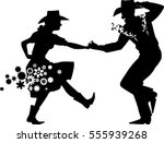couple dancing country western  ... | Shutterstock .eps vector #555939268