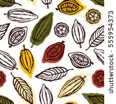 seamless pattern with fruits... | Shutterstock .eps vector #555954373