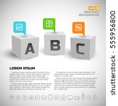 3d cubes with infographic... | Shutterstock .eps vector #555956800
